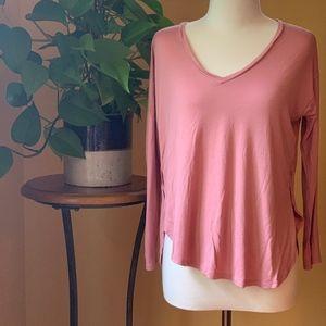Blush pink Madewell flowy v- neck tshirt small